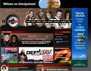 DefJay.de: Screenshot mit PICALDI Gewinnspiel